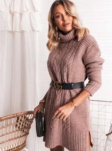 Brązowy sweter SELFIEROOM w stylu casual z wełny