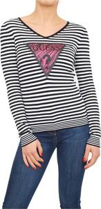 Bluzka Guess z dżerseju w stylu casual z długim rękawem