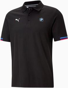 Czarna koszulka polo Puma z krótkim rękawem z bawełny