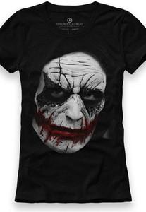 Czarny t-shirt Underworld z bawełny z krótkim rękawem w młodzieżowym stylu