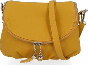 Żółta torebka Diana&Co na ramię ze skóry