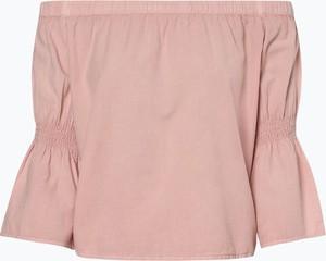 Różowa bluzka Review z długim rękawem w stylu casual