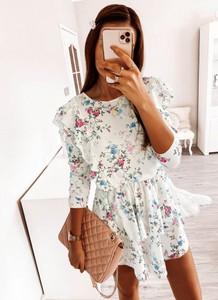 Sukienka Pakuten mini z okrągłym dekoltem