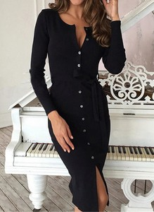 Czarna sukienka Cikelly prosta