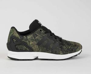 Buty sportowe Adidas zx flux w sportowym stylu sznurowane