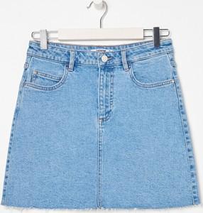 Niebieska spódnica Sinsay z jeansu mini