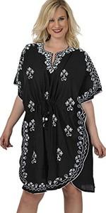 Czarna sukienka La Leela w stylu casual maxi