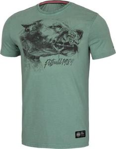 Zielony t-shirt Pit Bull z krótkim rękawem