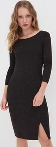 Czarna sukienka Sinsay z długim rękawem mini
