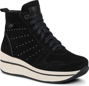 Czarne buty sportowe eobuwie.pl na koturnie