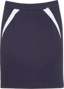 Granatowa spódnica simple