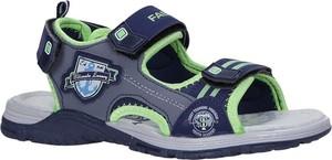 Niebieskie buty dziecięce letnie Casu na rzepy