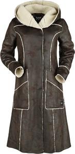 Brązowy płaszcz Emp w stylu casual