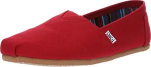 Czerwone buty letnie męskie Toms