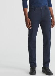 Granatowe spodnie Reserved z bawełny