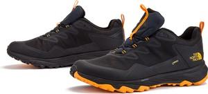 Czarne buty sportowe The North Face z goretexu sznurowane