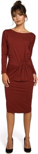 Czerwona sukienka Be w stylu casual