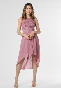 Różowa sukienka Marie Lund midi z okrągłym dekoltem bez rękawów