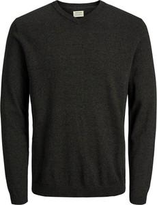 Czarny sweter Jack & Jones z bawełny w stylu casual