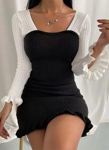 Sukienka Cikelly z okrągłym dekoltem dopasowana