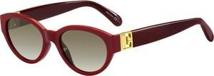 Czerwone okulary damskie Givenchy