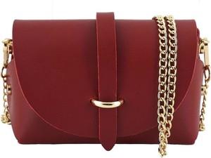 Czerwona torebka Barberini`s na ramię ze skóry