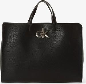 Czarna torebka Calvin Klein duża matowa