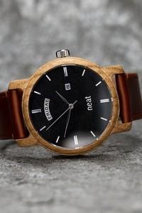 Neatbrand Drewniany zegarek męski Knight 43mm N081