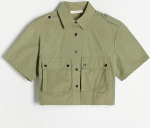 Bluzka Reserved w stylu casual z krótkim rękawem z dekoltem w kształcie litery v
