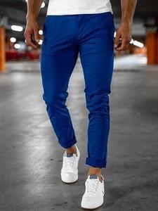 Niebieskie chinosy Denley z bawełny w stylu casual