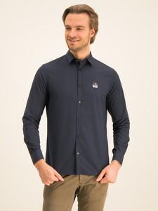 Granatowa koszula Armani Exchange z klasycznym kołnierzykiem