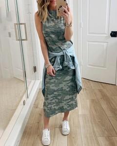 Sukienka Kendallme z okrągłym dekoltem bez rękawów maxi
