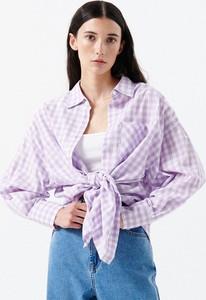 Fioletowa koszula Cropp z długim rękawem w stylu casual