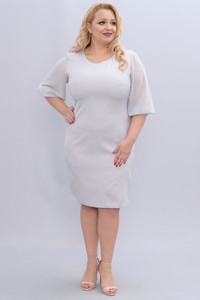 Sukienka KARKO z długim rękawem ołówkowa w stylu casual