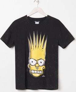 T-shirt Sinsay z krótkim rękawem z okrągłym dekoltem z bawełny