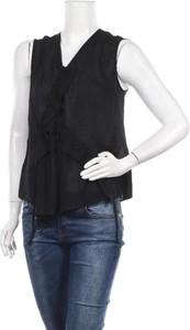 Czarna bluzka Caractere z dekoltem w kształcie litery v