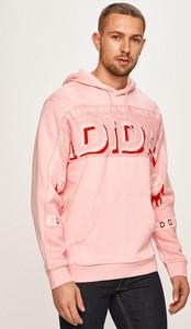 Różowa bluza Adidas Originals z bawełny