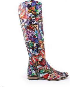 Zapato kozaki - skóra naturalna - model 125 - kolor motyl