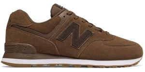 Brązowe buty sportowe New Balance sznurowane 574