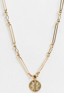 Reclaimed Vintage Inspired – Naszyjnik w kolorze złota z motywem strzał-Złoty
