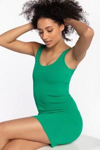 Zielona sukienka Guess na ramiączkach mini z okrągłym dekoltem
