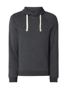 Granatowa bluza Montego w stylu casual z bawełny