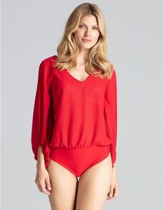 Czerwona bluzka Figl w stylu casual