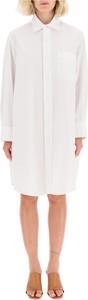 Sukienka Marni maxi koszulowa z długim rękawem