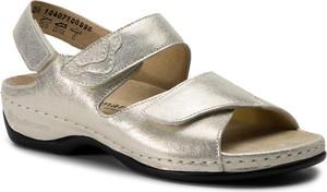 Sandały Berkemann w stylu casual na koturnie ze skóry ekologicznej