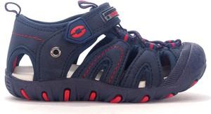 Granatowe buty dziecięce letnie American Club na rzepy dla chłopców