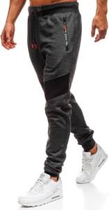 Czarne spodnie sportowe Denley w street stylu