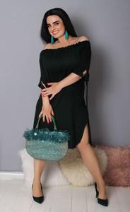 Czarna sukienka Oscar Fashion hiszpanka