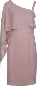 Różowa sukienka VISSAVI bez rękawów asymetryczna