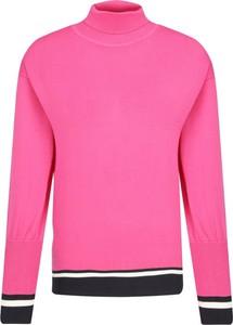 Różowy sweter Elisabetta Franchi w stylu casual
